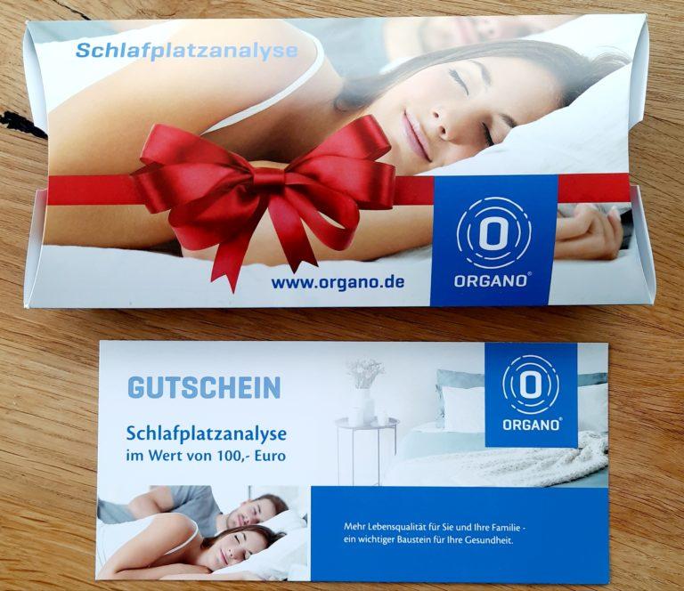 Organo Schlafplatzanalyse