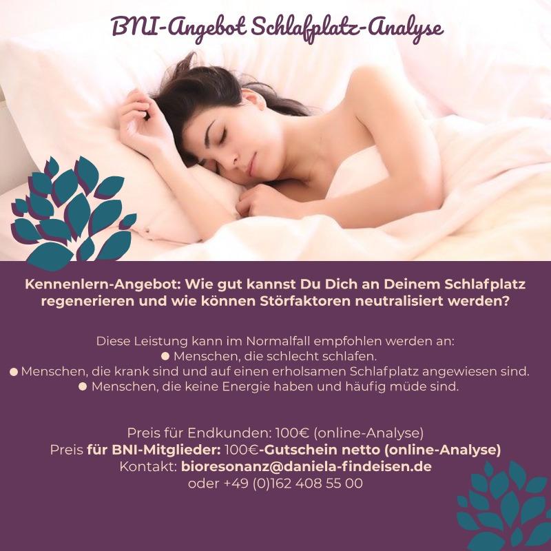 BNI-Angebot: Schlafplatzanalyse